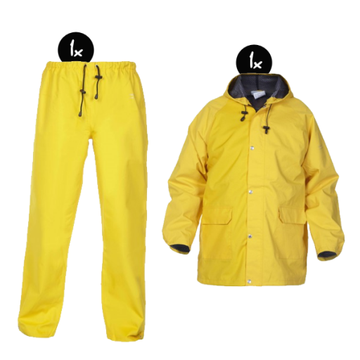Regenkleding set Hydrowear simply no sweat geel ( Basic pakket)