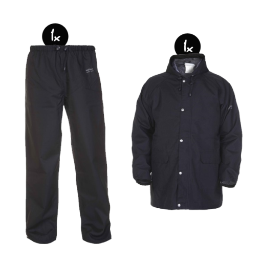 Regenkleding set Hydrowear simply no sweat Navy ( Basic pakket)