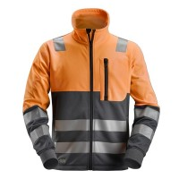 Sweatjack Snickers 8035 high visibility EN471 CL.2 Oranje-navy