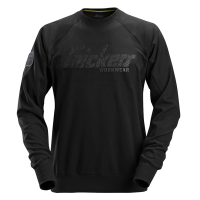 Snickers 2882 sweater crewneck - Zwart