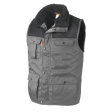 Bodywarmer Workman multipocket bi-colour grijs met zwart