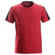 T-shirt Snickers 2518 Allround Work 160gr/m2 rood-zwart