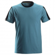 T-shirt Snickers 2518 Allround Work 160gr/m2 petrol-zwart