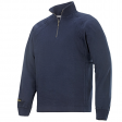 Sweater Snickers 2813 multipockets ritskraag navy blauw