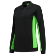 Dames polosweater Tricorp 302002 Bi-colour zwart met lime