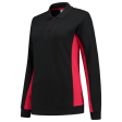 Dames polosweater Tricorp 302002 Bi-colour zwart met rood