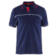 Polo blaklader 3389 bi-colour navy met rood