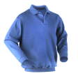 Polosweater Workman met elastiek in taille | korenblauw