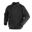 Polosweater Workman met elastiek in taille | zwart