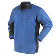 Polo sweater Workman Bi-colour zonder boord | Korenblauw / navy