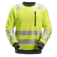 Sweater Snickers 8037 high visibility EN471 CL.2-3 geel