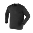 Sweater Workman ronde hals  Zwart