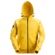 Hooded Sweatjack Snickers 2880 met 3d print geel