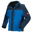 Winter softshell jack Workman Experience | Korenblauw met Navy