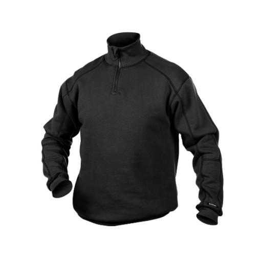 Sweater Dassy Felix met rits in de kraag 290gr/m2 | Zwart