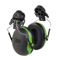 Gehoorkap 3M Peltor X1P3 Helmbevestiging, Zwart met groen