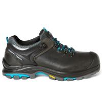 Werkschoenen Grisport Lago S3 zwart met fel blauw