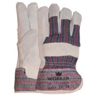 Handschoenen Msafe Rundsplitlederen + palmversterking, 12 pr