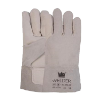 Lashandschoen M-Safe van nerf en splitleder met 8 cm kap