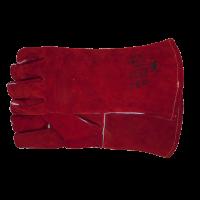 Lashandschoenen rood 5 vingers kevlar gestikt, 12 paar