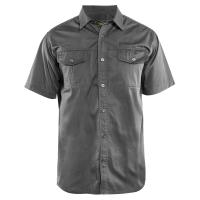 Overhemd Blaklader 3296 Twill korte mouw Grijs