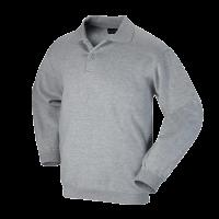Polosweater Workman met elastiek in taille  | grijs melee