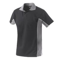 Poloshirt Workman Bi-colour k/m | Zwart met Grijs