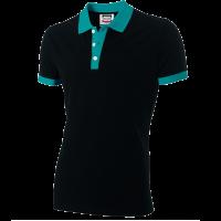 Poloshirt Tricorp PBF210 Fitted bi-colour zwart/turouise