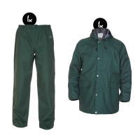 Regenkleding set Hydrowear simply no sweat groen ( Basic pakket)