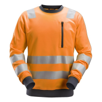 Sweater Snickers 8037 high visibility EN471 CL.2-3 oranje