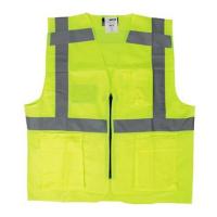 Veiligheidsvest Mwear 0170 met rits en zakken fluor geel