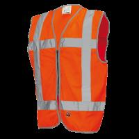 Veiligheidsvest Tricorp vlamvertragend met rits oranje