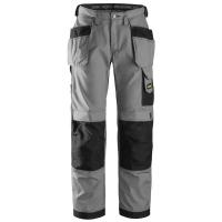 Werkbroek Snickers 3213 Rib-stop bicolour - grijs met zwart