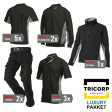 Kledingpakket Tricorp zwart met grijs ( Luxury pakket)