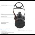 Vluchtmasker Spasciani M 900 ABEKP 15 details